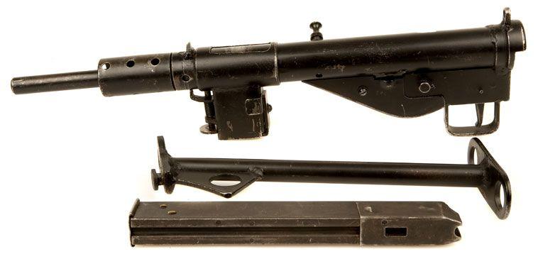 Sten MK II 9mm smg  Top to bottom: Sten MK II, tubular rear