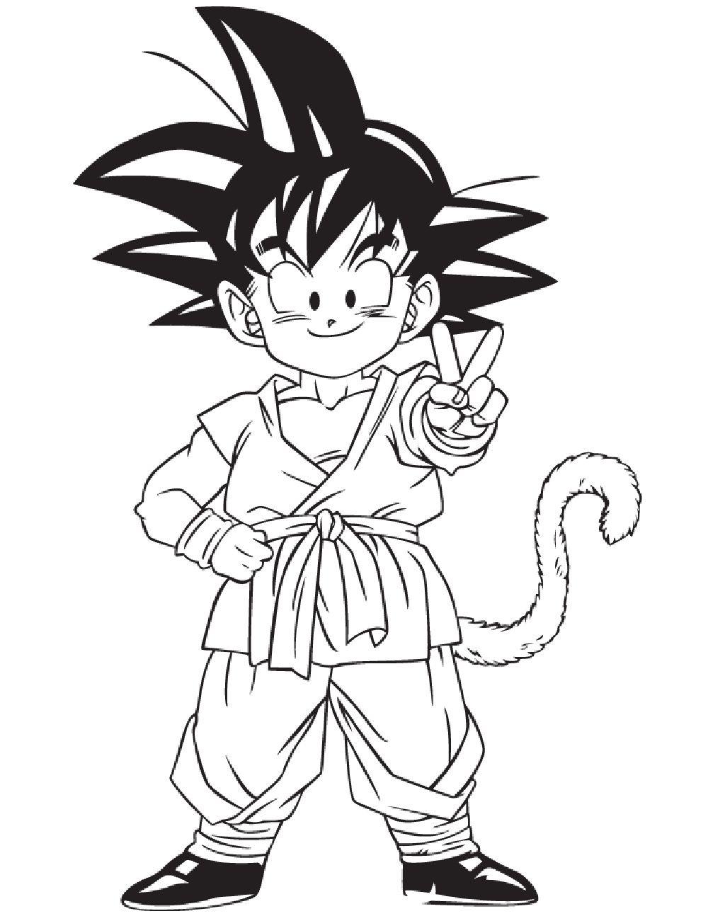 Goku Meilleur De Belle Coloriage Dragon Ball Z Facile Coloriage