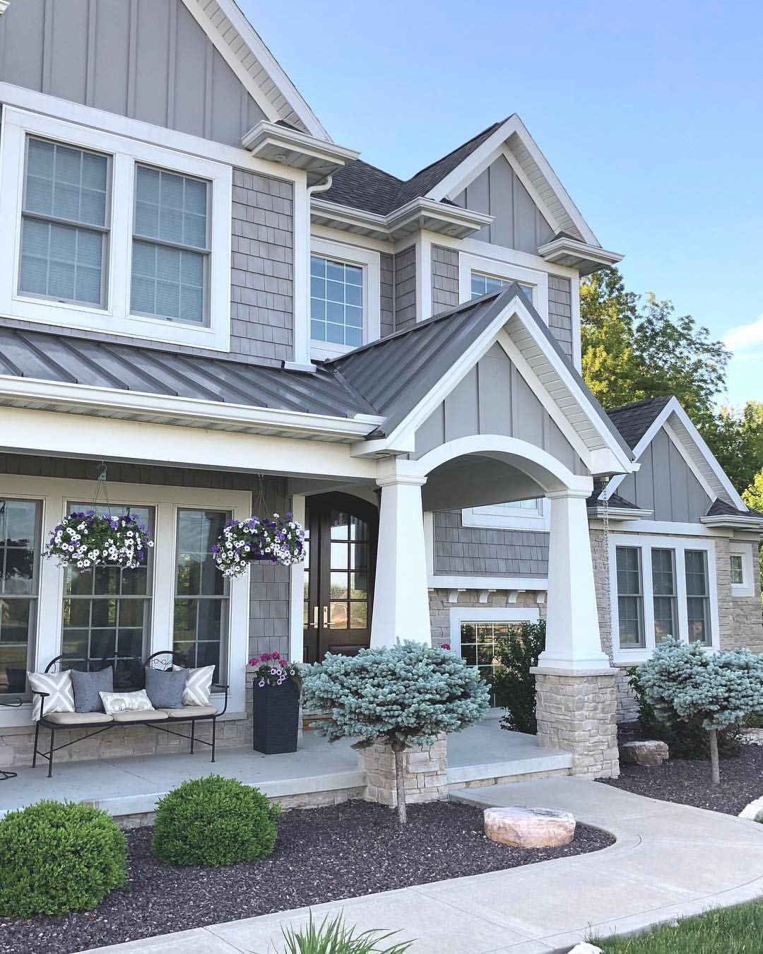 grey and stone craftsman style home exterior caroline on on modern house designs siding that look amazing id=64843