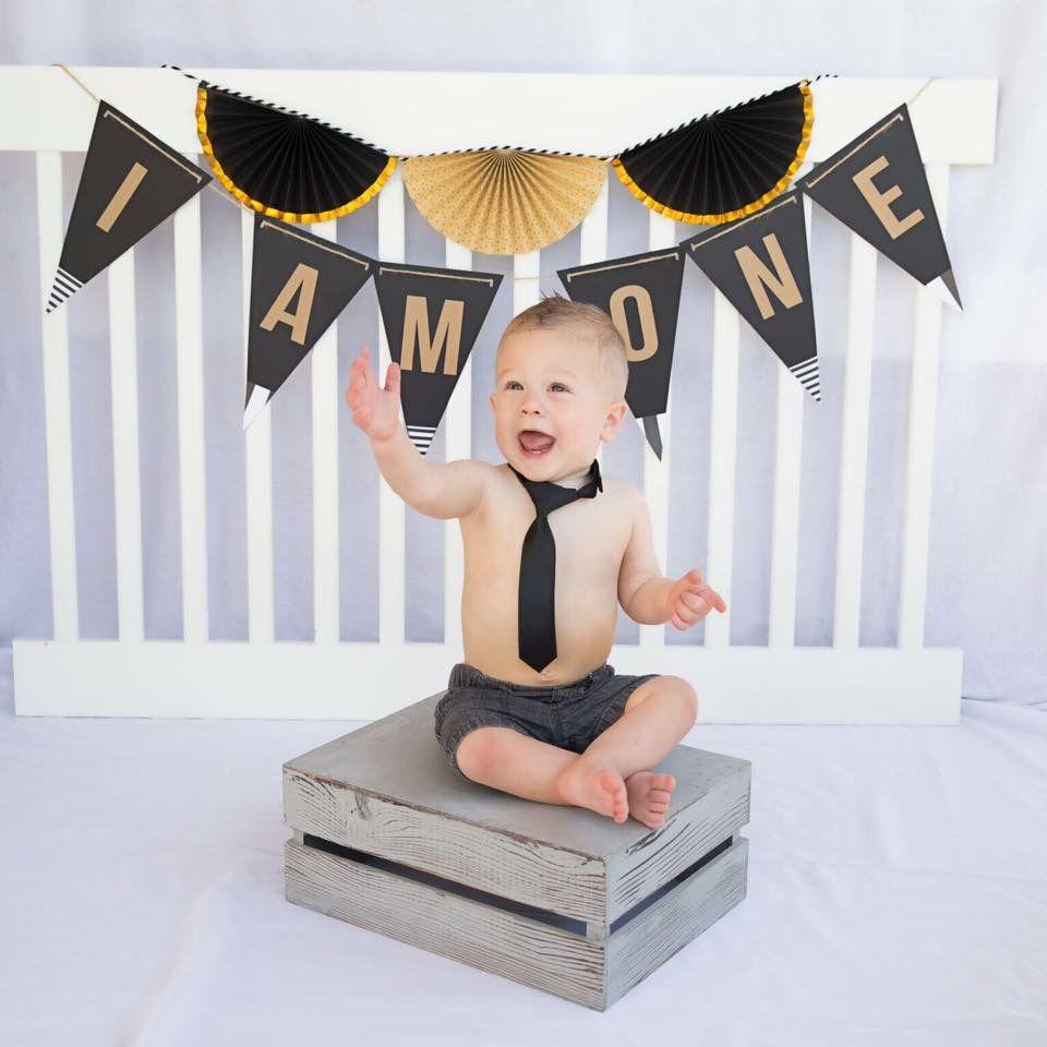 Cakesmash baby boy first birthday photo shoot props