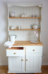 My Beautiful Welsh Dresser Painted In Farrow Ball New White Before And After For The Love Of Chalk Paint Furniture Pinterest