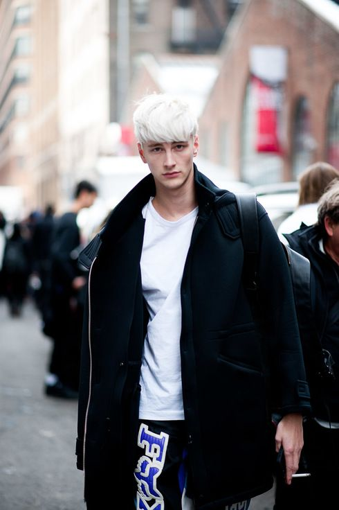 13++ Guys white hair information