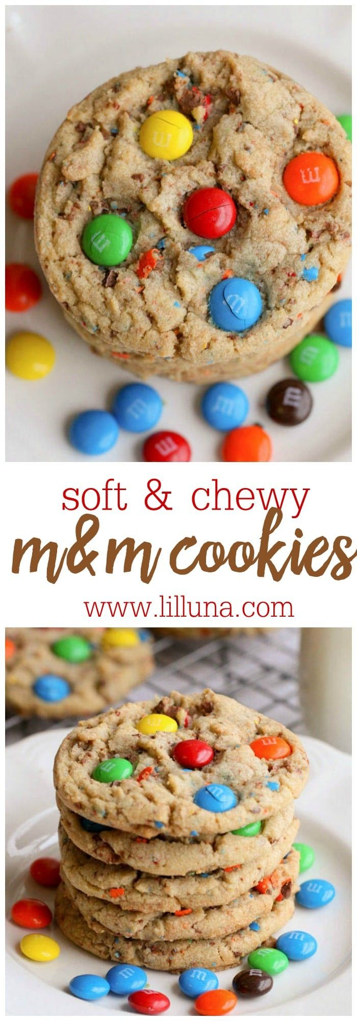 Soft and Chewy MM Cookies  these fun and colorful cookies are perfect all year long and easily changed up with the MMs you use Theyre a family favorite
