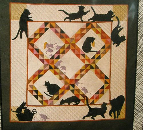 Quilt pattern - amish cats and rats - (1984) silhouette lap or ... : shaker quilt patterns - Adamdwight.com
