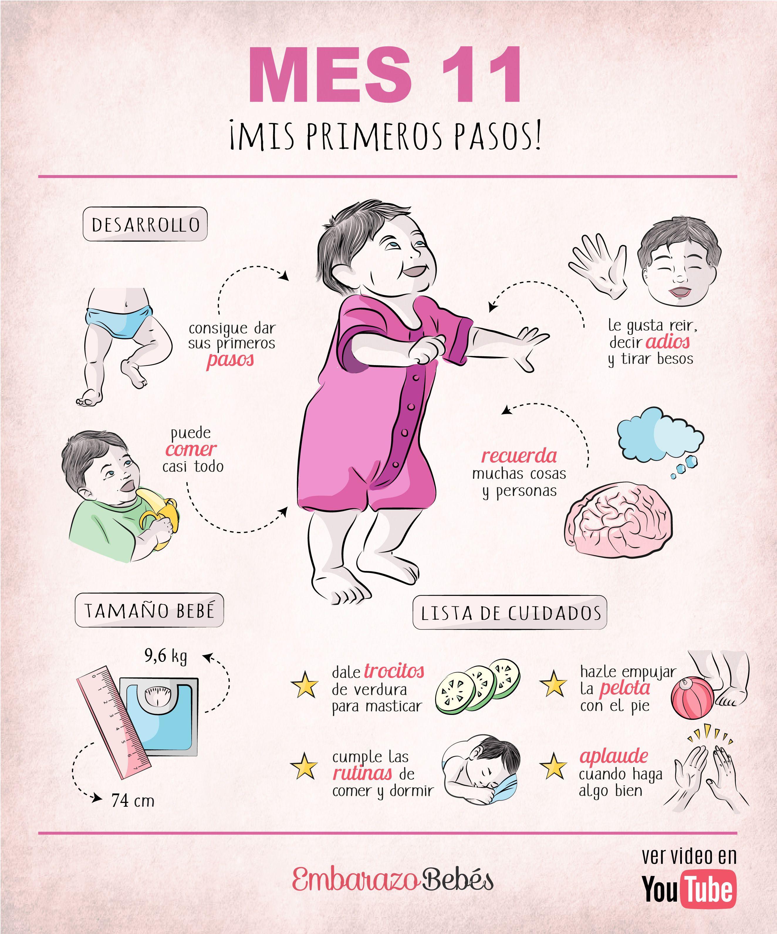 11 Meses Del Bebé Cuidados Y Desarrollo Calendario Del Bebé En 2020 Bebe Calendario De Bebes Trucos Bebé