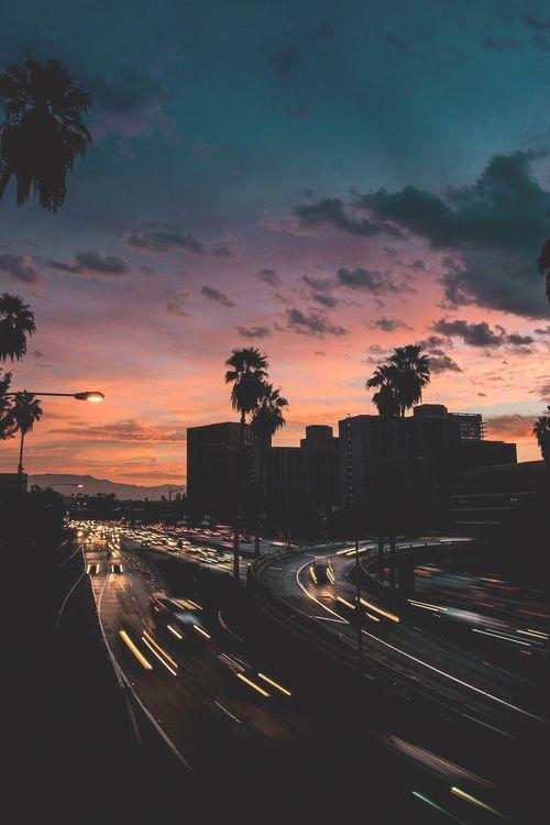 Imagen de sunset, city, and sky