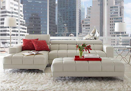 picture of sofia vergara san venetti offwhite 2 pc sectional from living room sets - Sofia Vergara Furniture