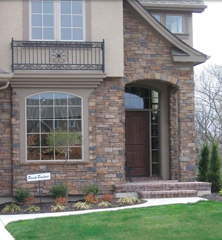 Cobblestone And Stucco Homes | Brick, Stone And Stucco | Showroom |  Spectacular Homes K.C.