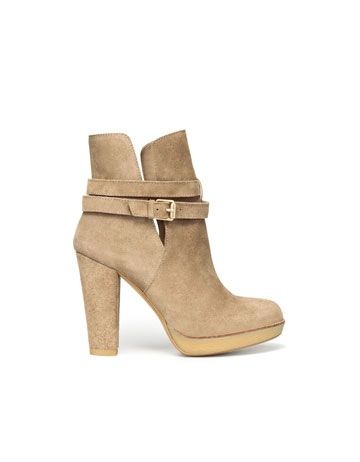 HIGH HEEL CREPE ANKLE BOOT - Shoes - Woman - New Collection - ZARA United  States bb8ebe47a8