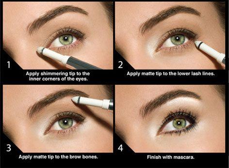 Silmänympärysten korostukset