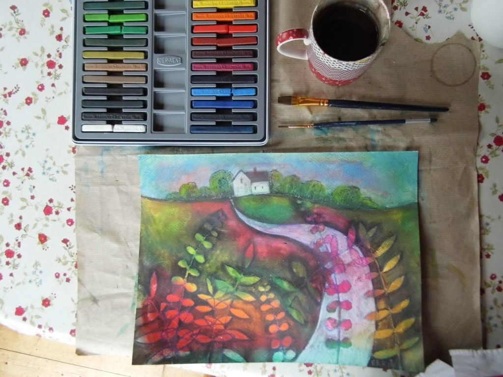 Inktense Blocks Painting Tutorial And Giveaway Painting