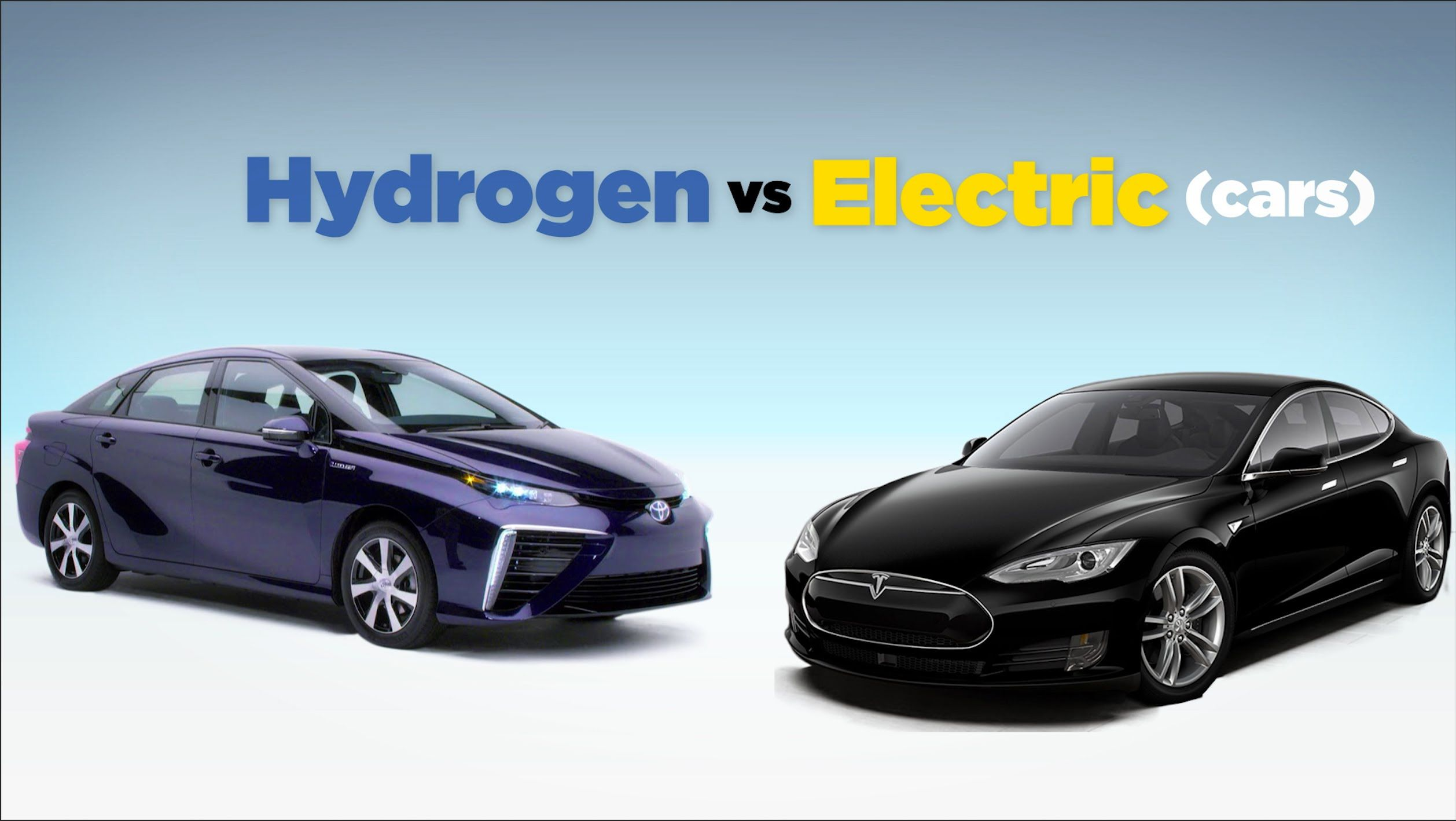 Hydrogen cars vs. Electric cars HINT electric cars win