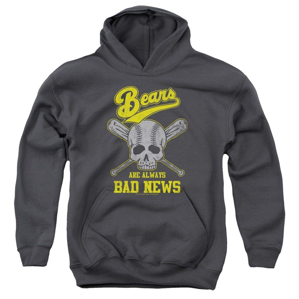 The Bad News Bears Always Bad News Charcoal Youth Hooded Sweatshirt