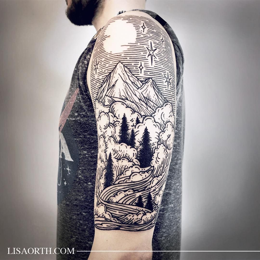Tattoo ideas for guys half sleeve lisaorth piece commemorating his time spent in colorado for adam