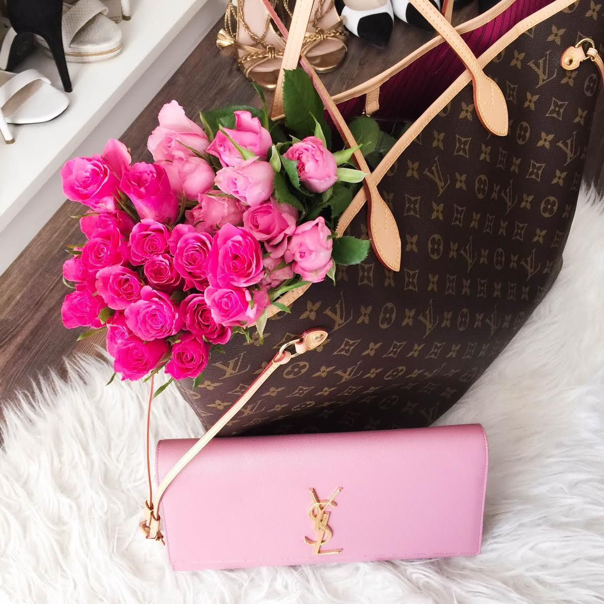 Insta Inspiration Flowers Vuitton Bag Louis Vuitton