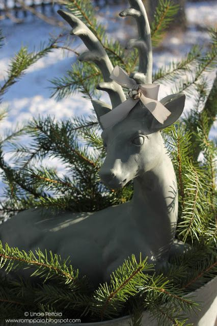Nordic, Scandinavian christmas, deer decoration Romppala - Lindan pihalla