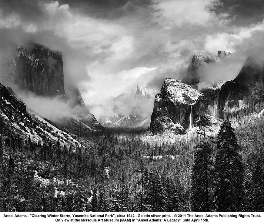 Clearing Winter Storm, Yosemite National Park; Ansel Adams; Gelatin Silver Print