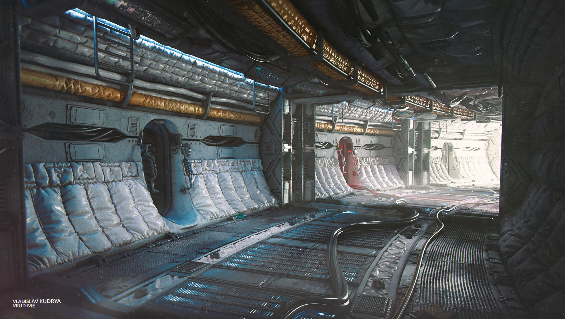 Sci Fi Interior Concept Awakening On Behance With Images Sci