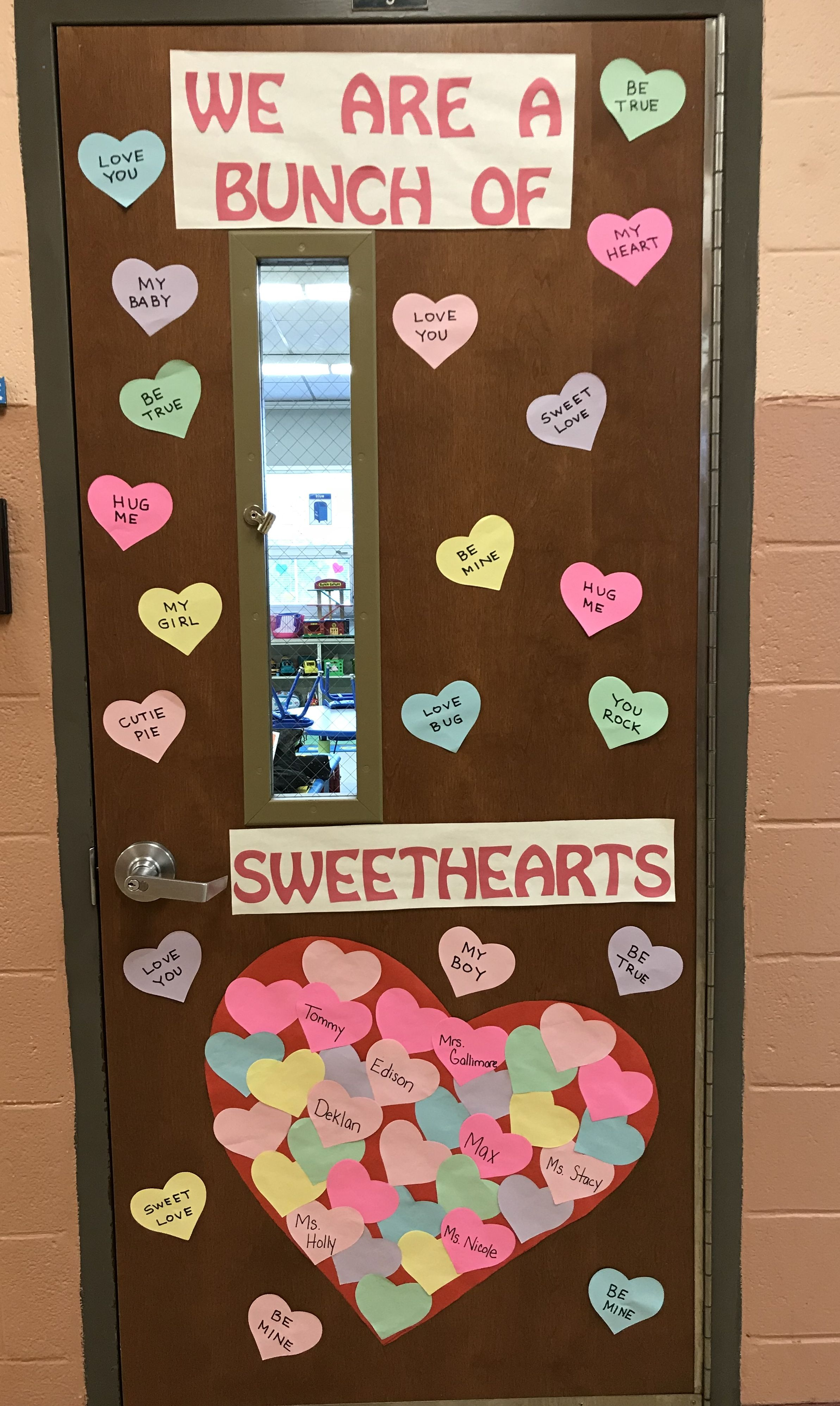 "Valentines Day classroom door decoration ""We are a bunch of ..."