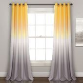 #16T002417 #52x84 #curtain #Darkening #Fiesta #Moon #Panels #Room #Set #Umbre #Window #YellowGray Umbre Fiesta Room Darkening Window Curtain Panels Yellow/Gray Set 52x84 - Half Moon 16T002417