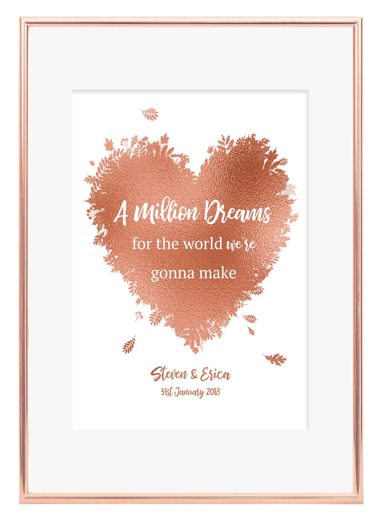 photograph relating to A Million Dreams Lyrics Printable named A attractive personalized lyric middle print which is