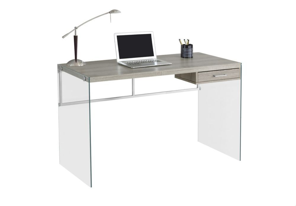 Cool 48 Inch X 30 Inch X 24 Inch Standard Computer Desk In Grey Home Interior And Landscaping Dextoversignezvosmurscom