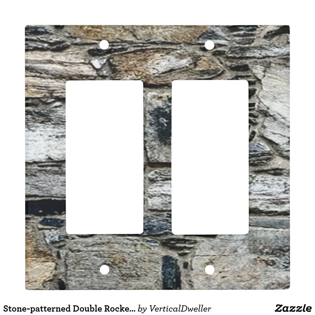 Stone Patterned Double Rocker Light Switch Gbo Zazzle Com Stone Accent Walls Light Switch Covers Unique Lighting