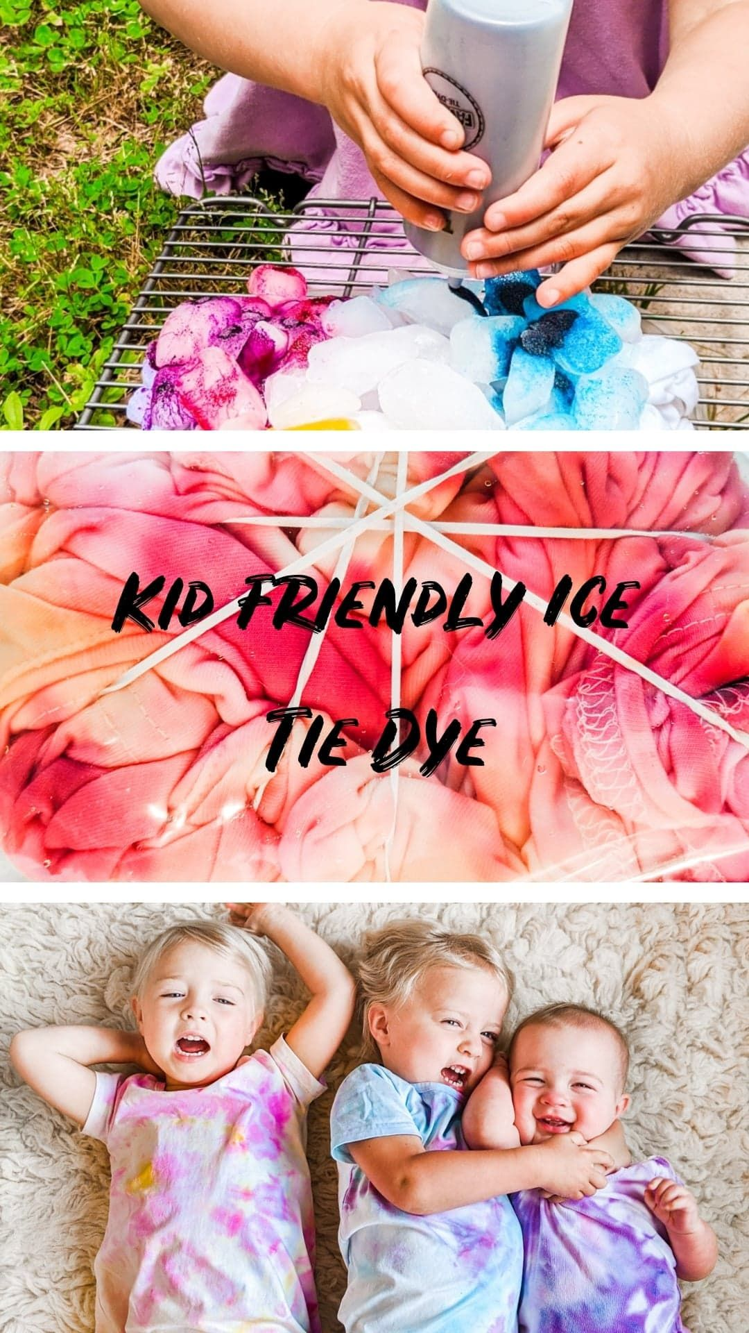 Photo of Kid Friendly Ice Tie Dye Technique DIY