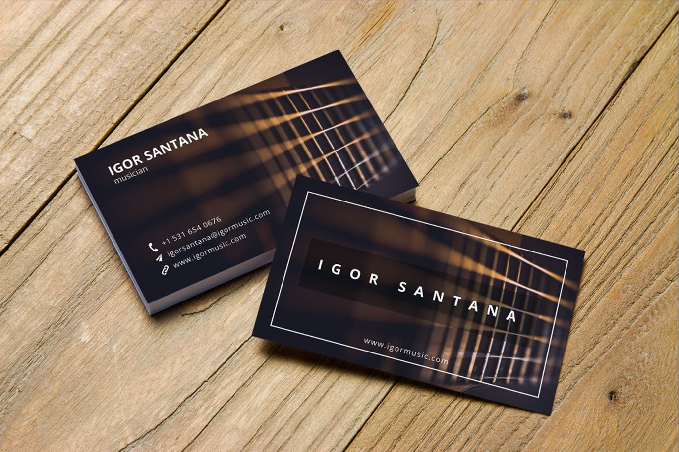 Music Business Card Template Psd