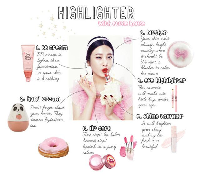 """""""Etude House Highlighting"""" by alicemalfoy ❤ liked on Polyvore featuring beauty, Etude House, korean, etudehouse and highlighter"""