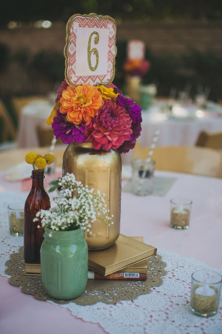 Mason jar wedding decoration ideas  The Most Extravagant Wedding Ideas for the Classic Bride  Wedding