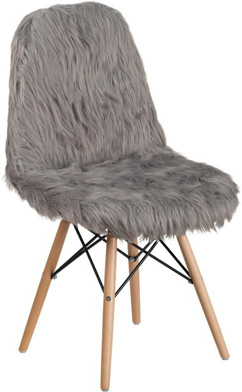Best Shaggy Dog Charcoal Gray Accent Chair Grey Accent Chair 400 x 300
