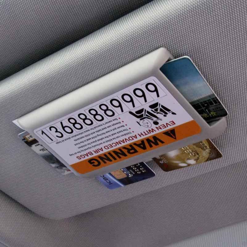 Temporary Car Parking Telephone Number, Car Sun Visor Name Card ...