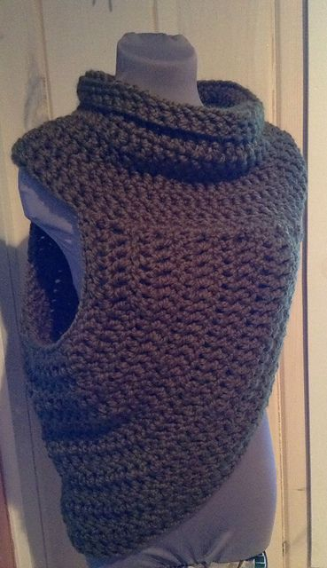 Relaxed Half Sweater Wrap | Katniss | Hunger Games pattern by Yarn ...
