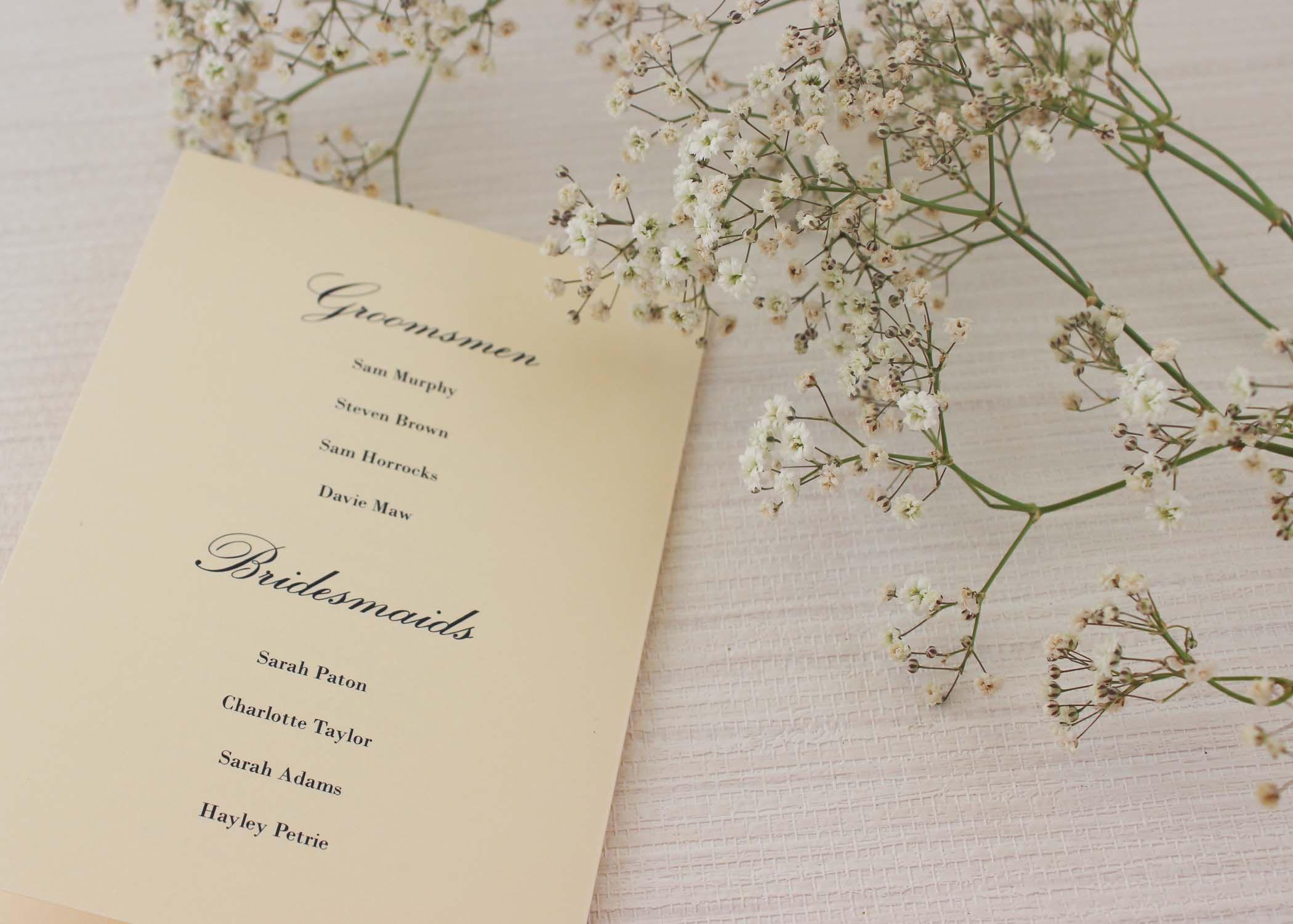Traditional Monogram Order of Services | Service program, Wedding ...