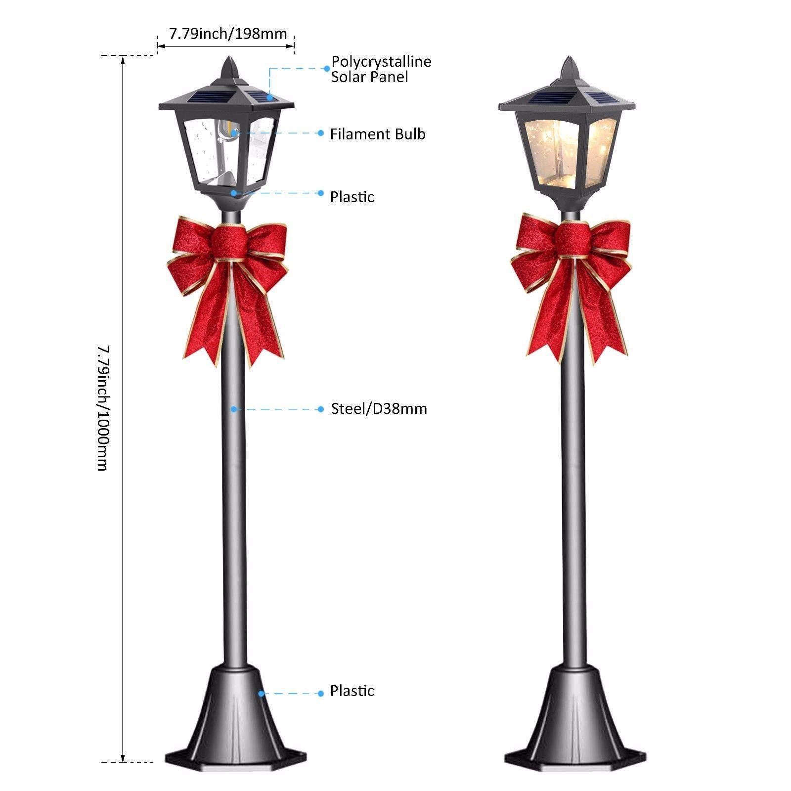 42 solar power christmas mini street vintage lamp post light for 42 solar power christmas mini street vintage lamp post light for outdoor garden aloadofball Image collections