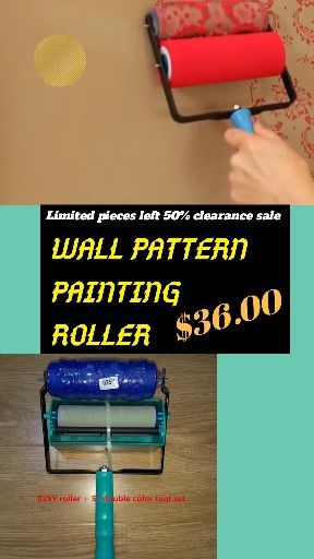Wall Pattern Painting Roller Video Video Wall Patterns Patterned Paint Rollers Painting Patterns