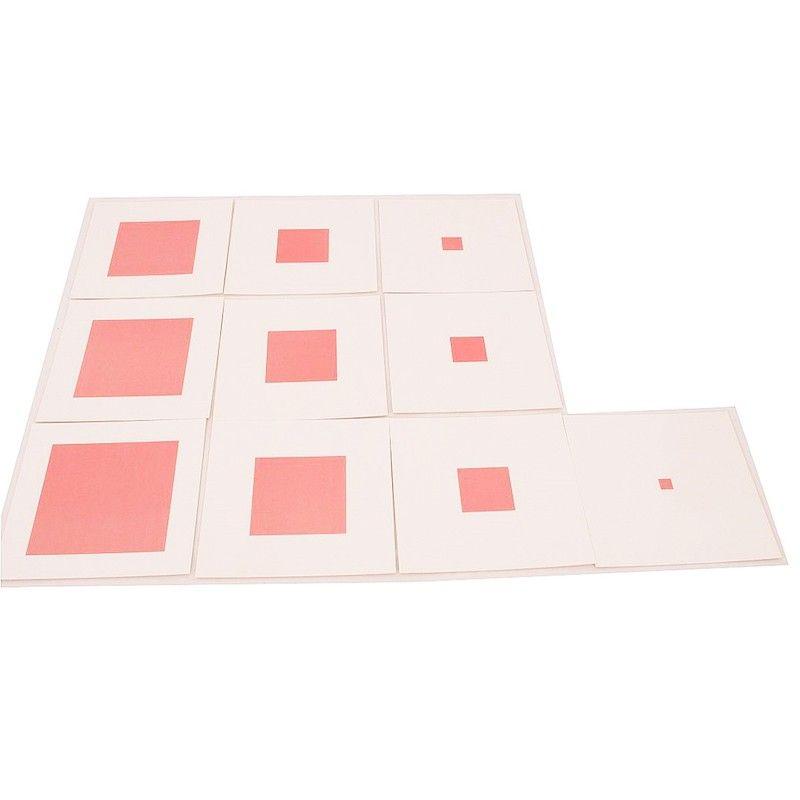 Tarjetas para la torre rosa, para colocar los cubos sobre su ...