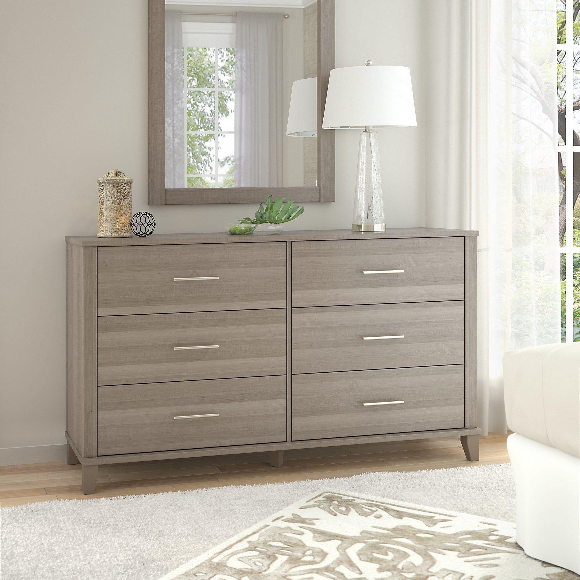 Oliver James Elizabeth Grey Dresser 6 Drawer