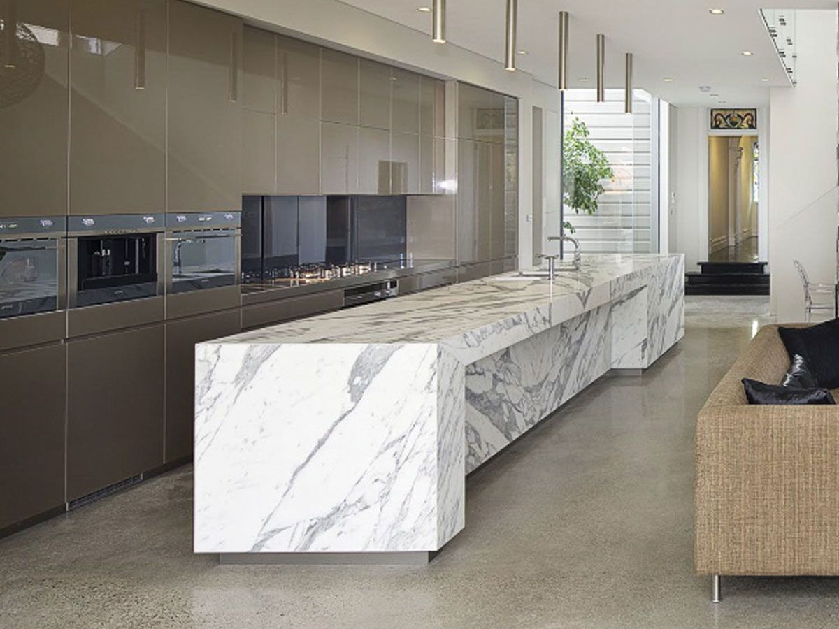 Ikea Stone Benchtops Kitchen And Dining Sareen Stone Polished Calacatta Marble