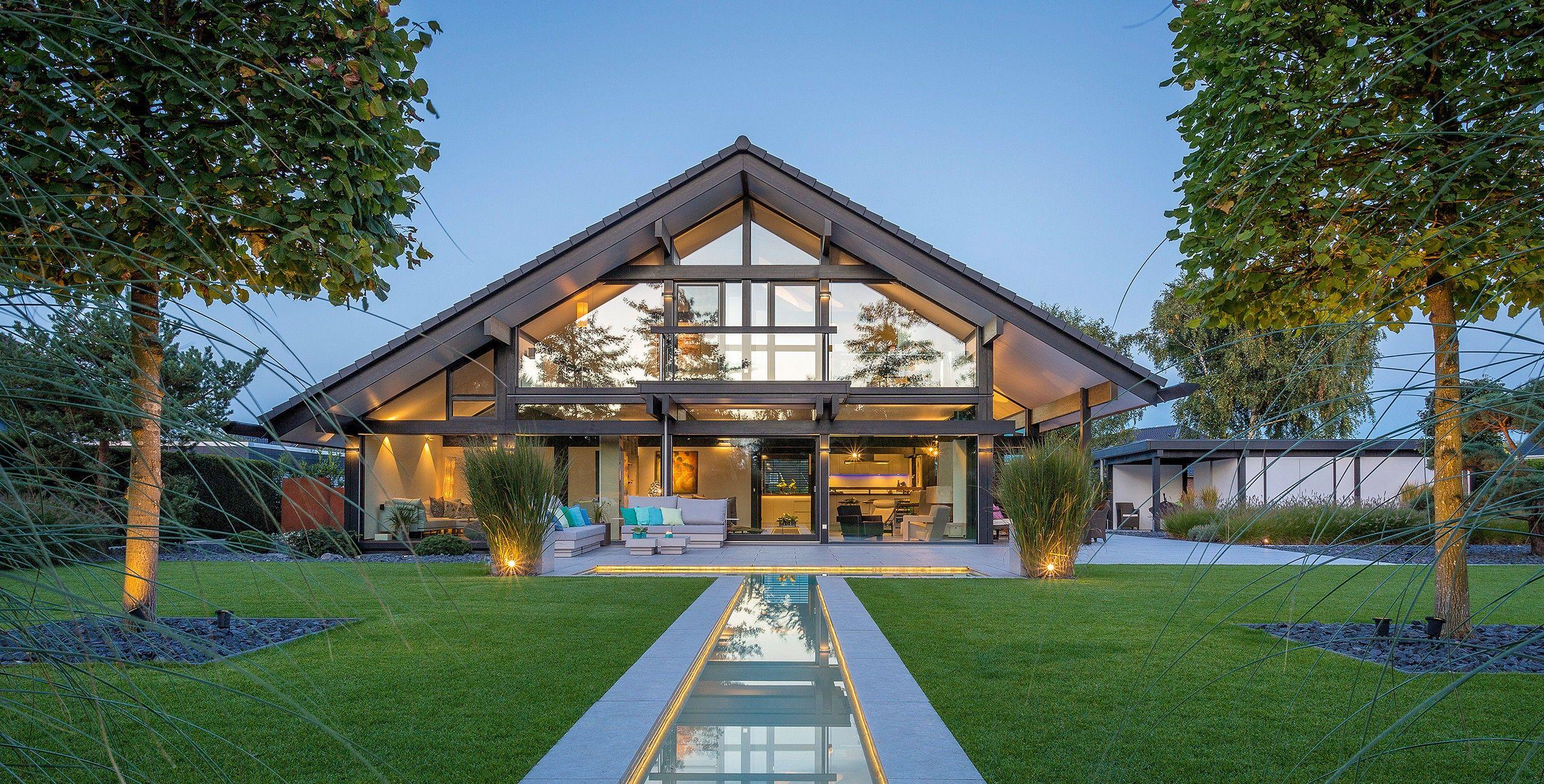 Moderne Fachwerkhäuser aus Holz und Glas Das Original