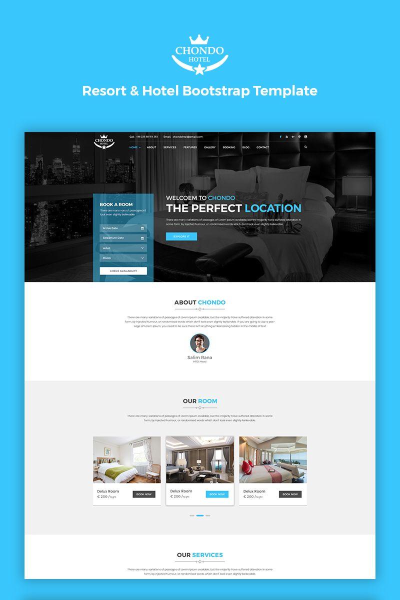 Chondo Hotel Html Website Template 67170 Website Template Html Website Templates Webpage Layout