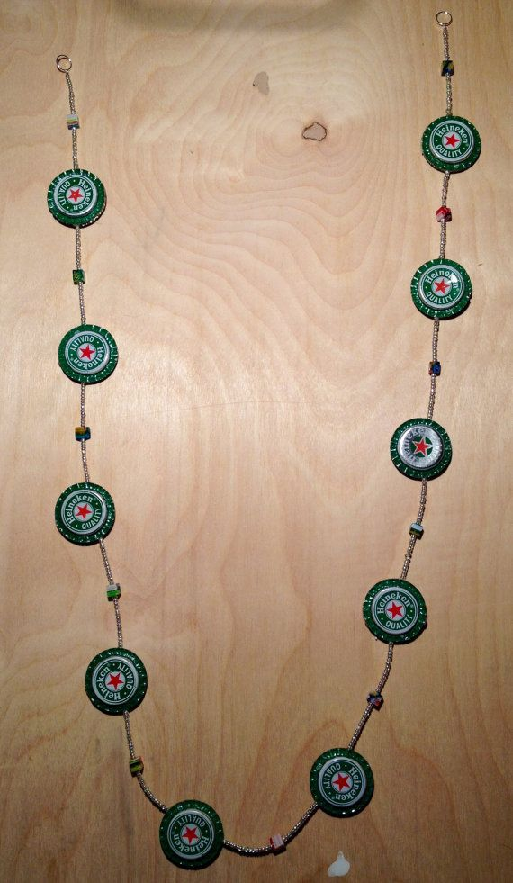 Heineken Beer Cap Garland by VermontLuna on Etsy