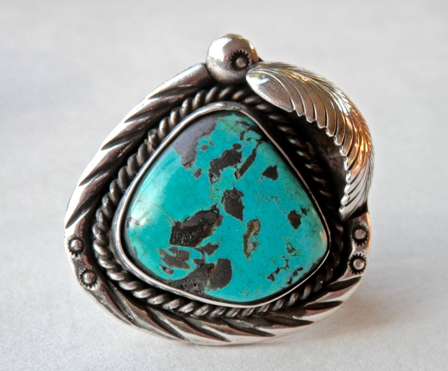 Navajo Ring Turquoise Ring Turquoise Jewelry Mens Ring Size 9 Native