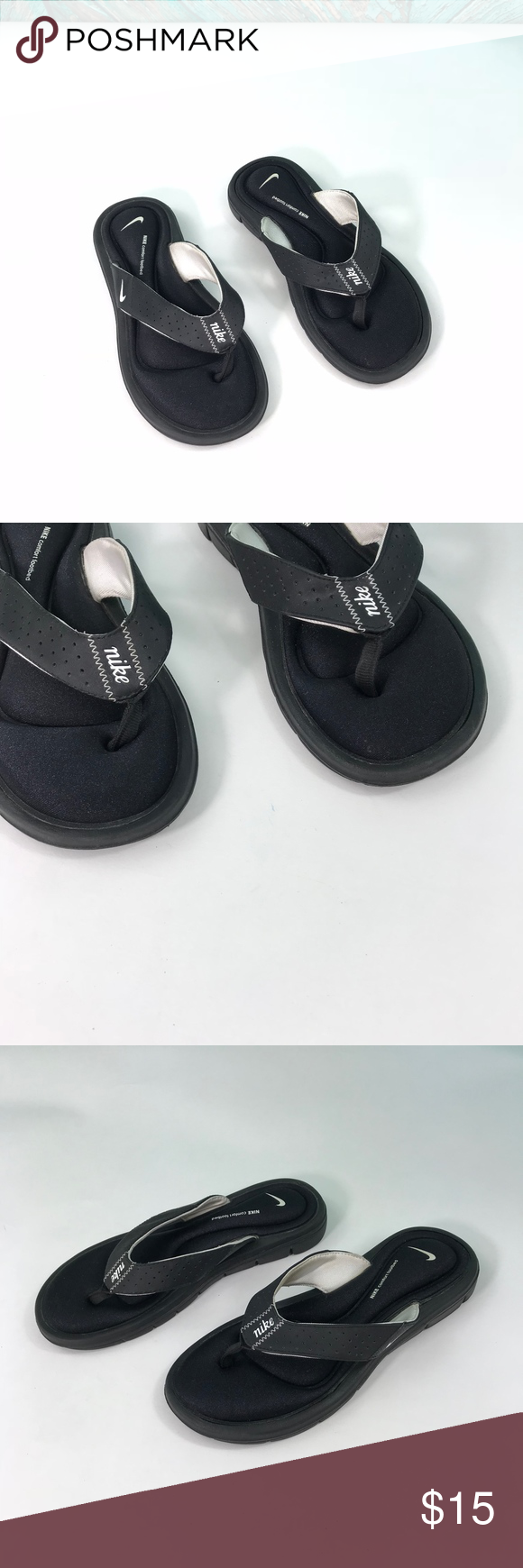 40bcbf03dc39 Nike Womens Thong Comfort Footbed Sandals 6 Nike Womens Thong Comfort  Footbed Sandals Flip Flops 6
