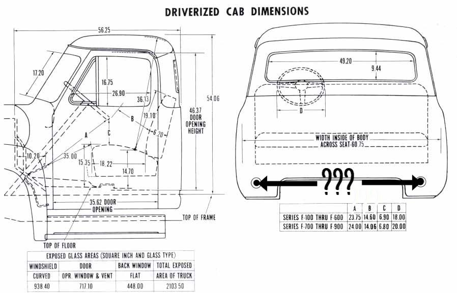 53-56 rear cab mount spacing - ford truck enthusiasts forums