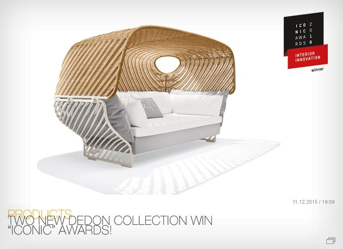 "TWO NEW DEDON COLLECTION WIN ""ICONIC"" AWARDS!"