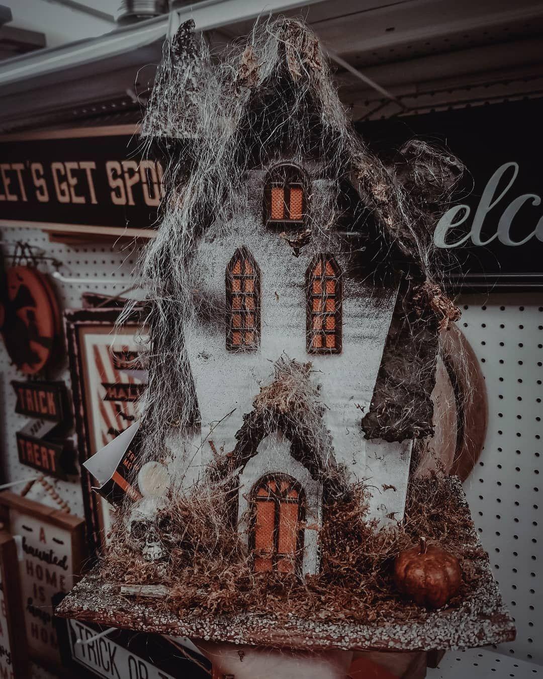 haunted house ornament DIY halloween halloweendecor