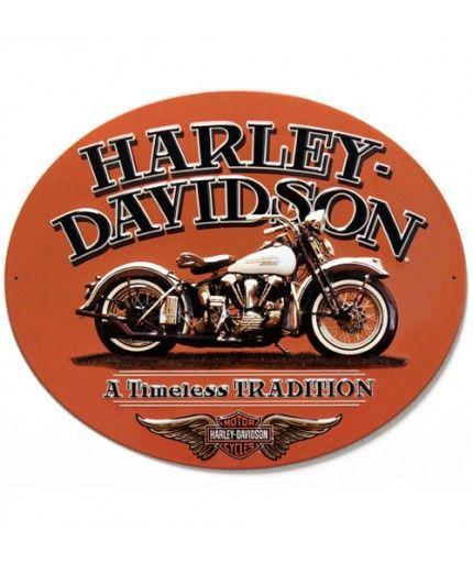 Harley Davidson Retro Tin Sign Brick Wall 30 x 40 cm New