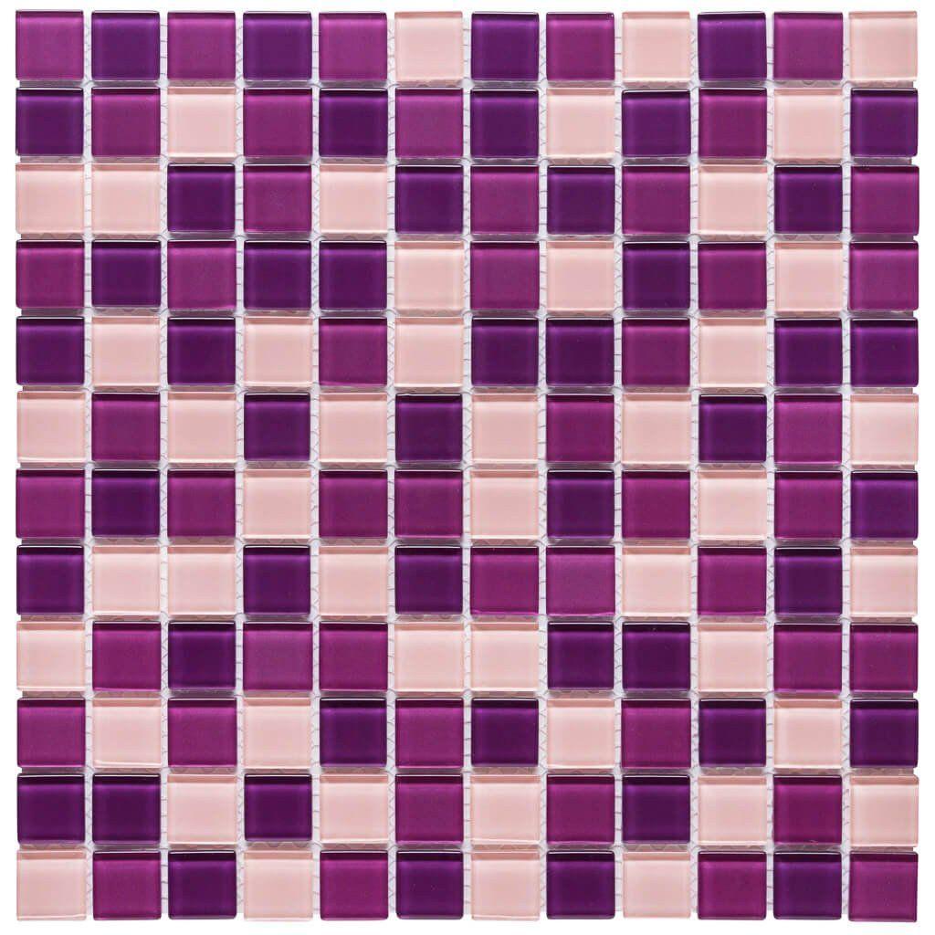 7b70ed5ac Malla Decorativa Grape con mezcla de cristales en tonalidades rosa y morado.  Medida (cm) 30 x 30 Grosor (cm) 0.4